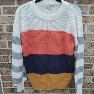 Andree Sweater S Multicolor Striped Long Sleeve